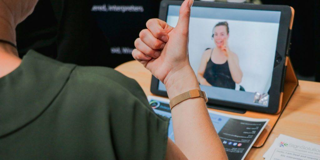 Video Interpreting on tablet device